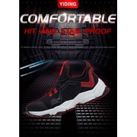 young fashion flywoven mesh upper safety shoes 913