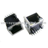 1000base shield RJ45 connector with LEDs