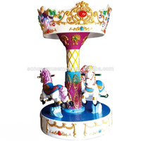Chinese coin operated game machine indoor kiddie ride carousel for sale thumbnail image