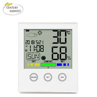 Touch screen digital thermometers hygrometer with backlight LED display