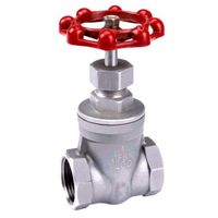 stainless steel ss304 and ss316 female thread gate valve 200 PSI