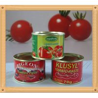 70grx50tins canned tomato paste, factory normal open/easy open tin packing