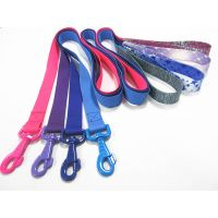 colorful nylon dog leash with skidproof grip