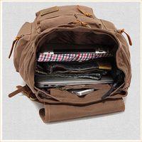 10oz vintage drawstring hunting softback mountain laptop wholesale china back pack travelling canvas thumbnail image