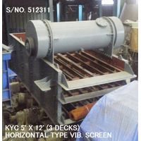 "USED ""KYC"" HORIZONTAL TYPE 5' X 12' VIBRATING SCREEN (3 DECKS) S/NO. 512311"