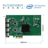 4-Port USB3.0 USB3.1 PCIe Expansion Card 900m/s Each Port for 4USB3.0 Camera, Stablized Power Supply
