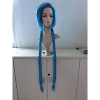 34inch leagu of legend jinx cosplay wig-Blue pait wig
