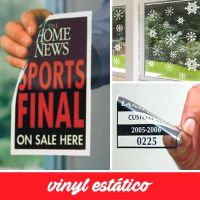 Printable clear/white static cling vinyl