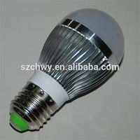 CE RoHS aluminum 3w led bulb e27 for shop