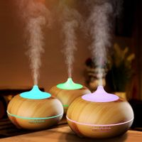 Alexa New 2018 Music Rainbow 300ml Aroma Diffuser Wood