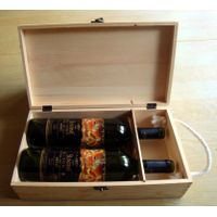 Cheap pine wooden wine box wholesale