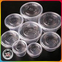 Disposable plastic portion cup
