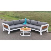 Stonington solid bamboo Sectional outdoor sofa