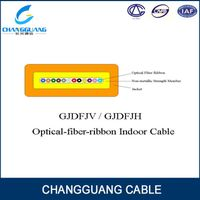 Factory price for Flat fiber ribbon cable GJDFJV indoor fiber optic cable Changguang communication