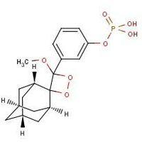 3-(2'-Spiroadamantane)-4-methoxy-4-(3''-phosphoryloxy)phenyl-1,2-dioxetane (AMPPD)
