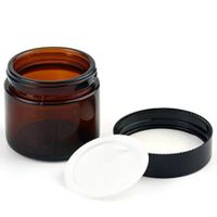 Wholesale Amber Empty Glass Container Face Cream Jar 30g 50g