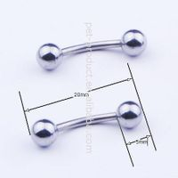 The most fashion popular attractive tongue studs body piercing jewelry