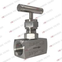 Stainless Steel Manual High Pressure Female Thread Needle Valve 6000psi thumbnail image