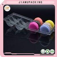 Plastic gift macaron packaging box