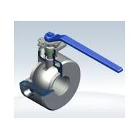Wafer type jacketed ball valve