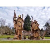 Customized Outdoor Playground Wooden Castle theme Play Structure