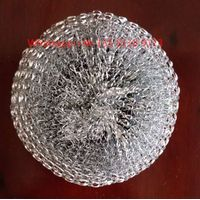 hot sale galvanized mesh scourer and stainless steel wire scourer for kitchen