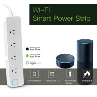 Smartphone or Amazon Alex Remote Control 3AC Electrial Outlets Wi-Fi Smart Power Strip