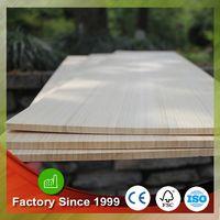China factory caramelized bamboo veneer plywood for skateboards longbords