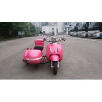 Mini Electric Motorcycle With Sidecar With Pink Color thumbnail image