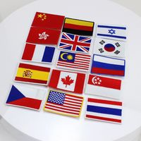 Various different country customized embroidered patches