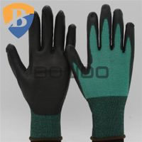13G HPPE liner PU coated safety work glove thumbnail image