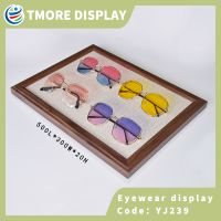 wooden optical display tray