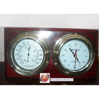 thermometer and clock