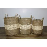 High quality seagrass basket, laundry basket cheap price-BH5506A-3NA