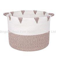 Large Cotton Rope Basket Baby Laundry Basket