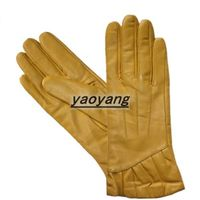 2013 fashion style and good quality ladies sheepskin leather gloves YYLL089