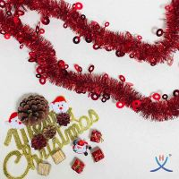 Hexing Wholesale Christmas Circle Tinsel Foil Garland Best Quality Party Festive Items