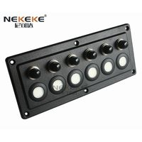 Blue Led 6 Gang Touch Sensitive Switch Panel for Car Boat Caravans 10A Breakers