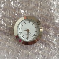 35mm silver insert clock