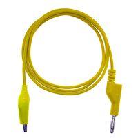 NUELEAD Banana Plug To Crocodile Alligator Clip Test Probe 5PCS 4mm Stackable Colorful Silicone thumbnail image