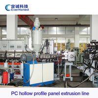 PC hollow profile panel extrusion line
