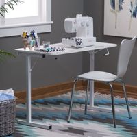 Ma Folding Portable Working abl Shelves Fo Sewing ort Desk White Storage rki Machine Table Craft