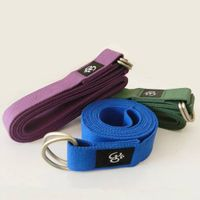 100% cotton yoga strap yoga belt