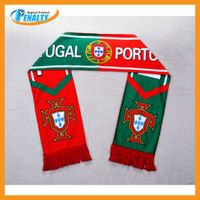2014 Brazil World cup Portugal team scarf wholesale from China supplier thumbnail image