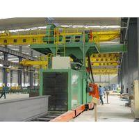 Dingtai roller conveyor through type H beam shot blasting machine