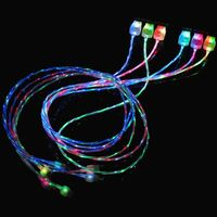 Pzcd Pz-54 LED Double Color Light Visible Data Sync / Charging Micro USB Cable for Android Cellphone thumbnail image