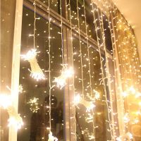 3 m x 6 m wedding led curtain lights backdrop