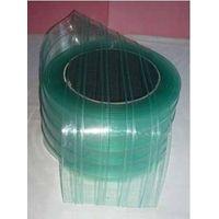 Anti-static ribbed pvc strip clear curtain thumbnail image
