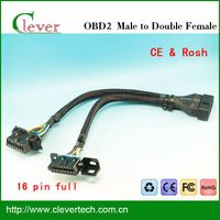 high-quality j1962 obdii connector cable male to double famal cable Hot selling