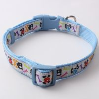 Dog training collar for sale: nylon ribbon adjustable custom logo